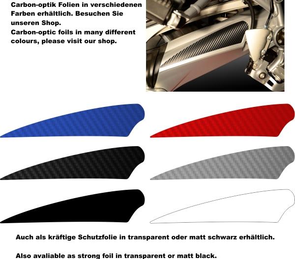 Passgenaue Carbon Optik Folie Fersenschutz R1200GS 2004 ...