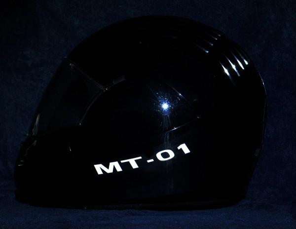 Helmaufkleber reflektierend im Stil Yamaha MT-01 Typ 1