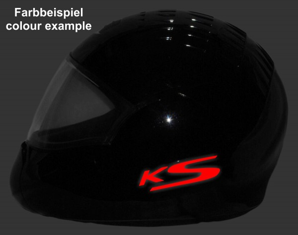 Reflective helmet sticker K1200S style Typ 4