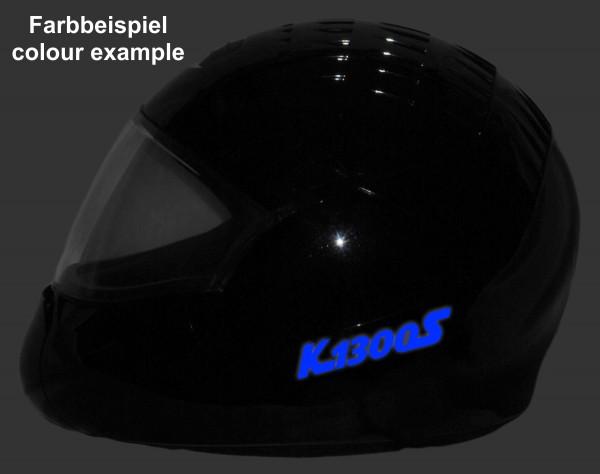 Reflective helmet sticker K1300S style Typ 2