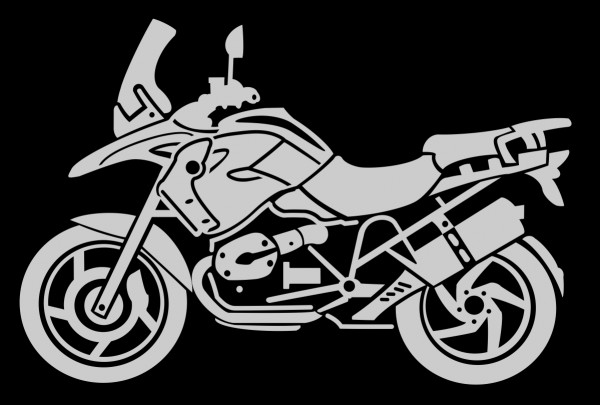 BMW R1200GS MÜ sticker in different colours