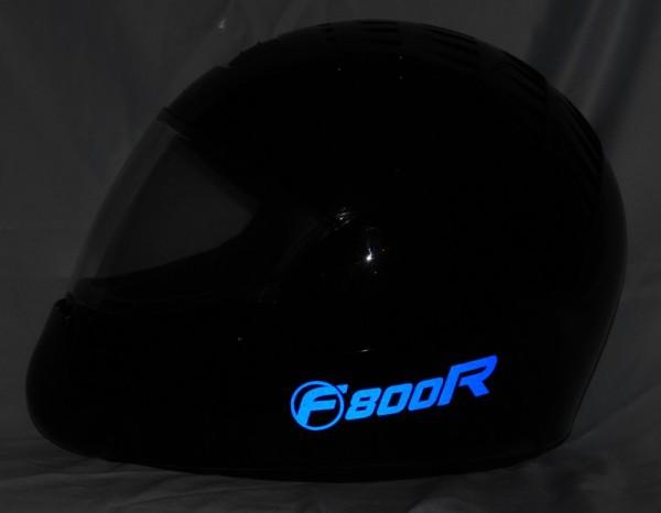 Helmaufkleber reflektierend im Stil F800R Typ 2