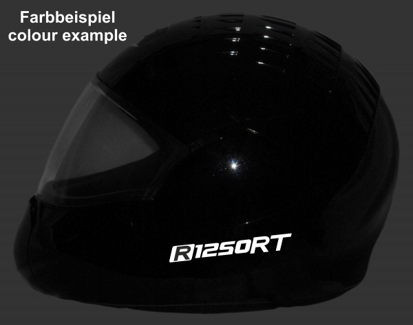 Reflective helmet sticker R1250RT style Typ 1