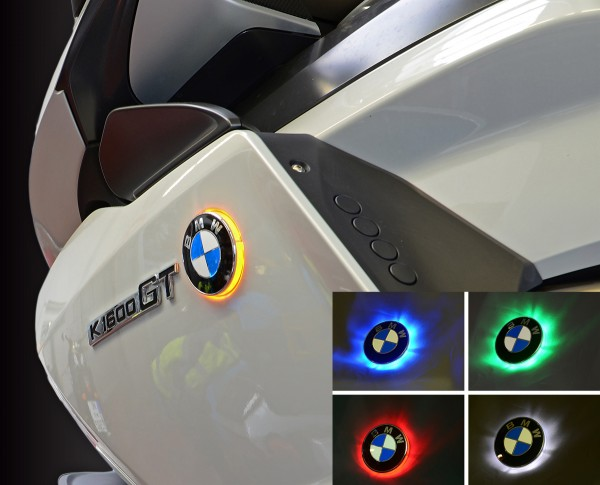 Two colour BMW roundel badge LED lights for K1600GT untill model 2016