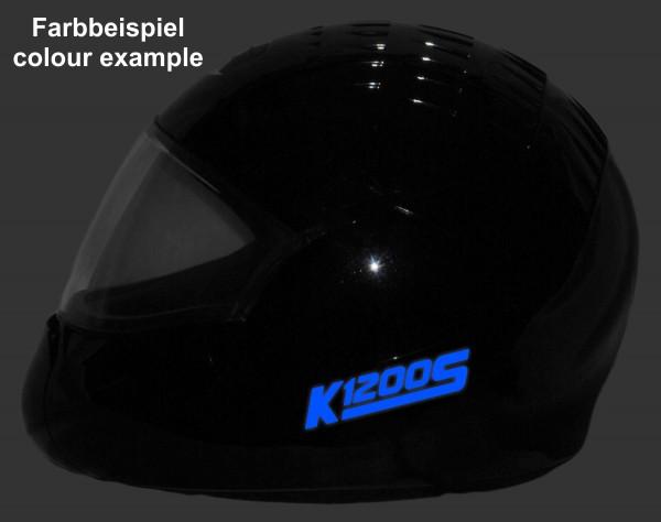 Helmaufkleber reflektierend im Stil K1200S Typ 2