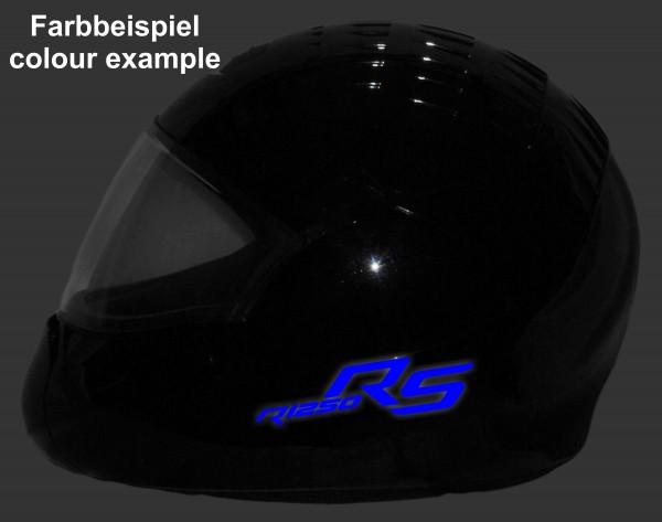 Helmaufkleber reflektierend im Stil R1250RS LC