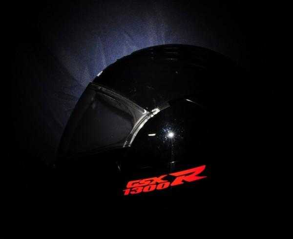 Reflective helmet sticker Suzuki Bandit style Typ 1