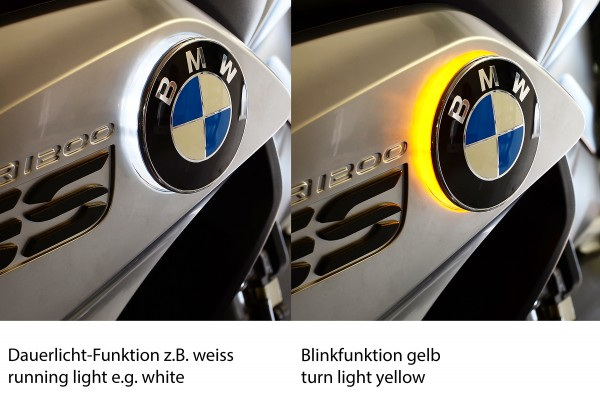 R1250GS + R1250GS Adventure zweifarbige LED Emblemblinker