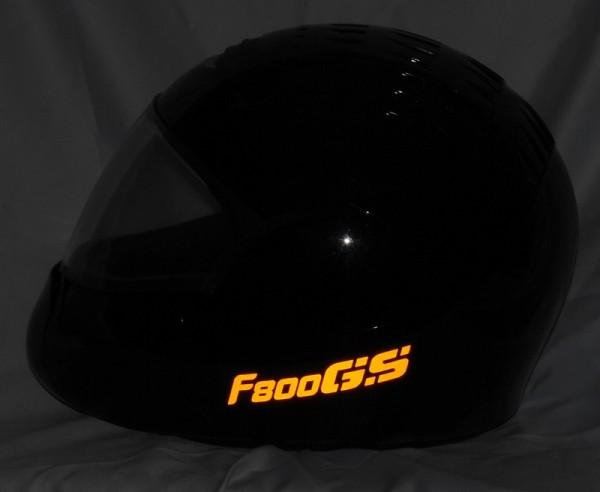 Helmaufkleber reflektierend im Stil F800GS Typ 2