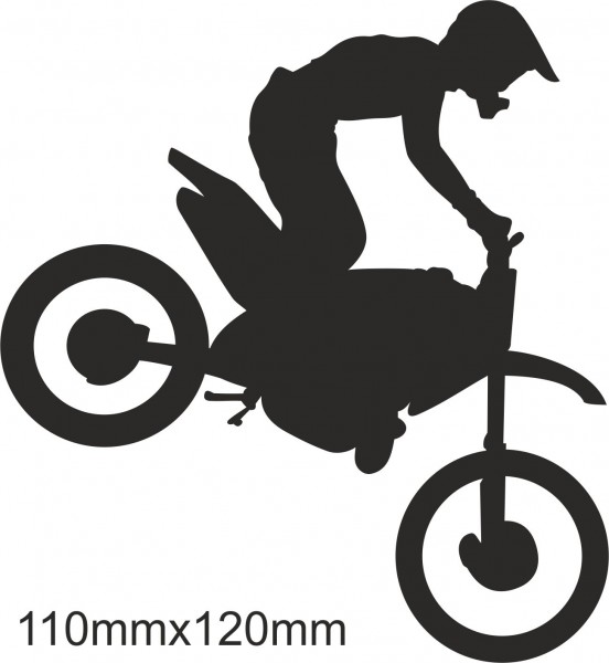 Motobike Moto Cross Freestyle sticker #02 different colours
