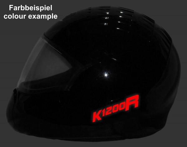 Helmaufkleber reflektierend im Stil K1200R Typ 1