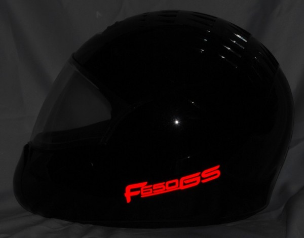 Reflective helmet sticker F650GS style Typ 4