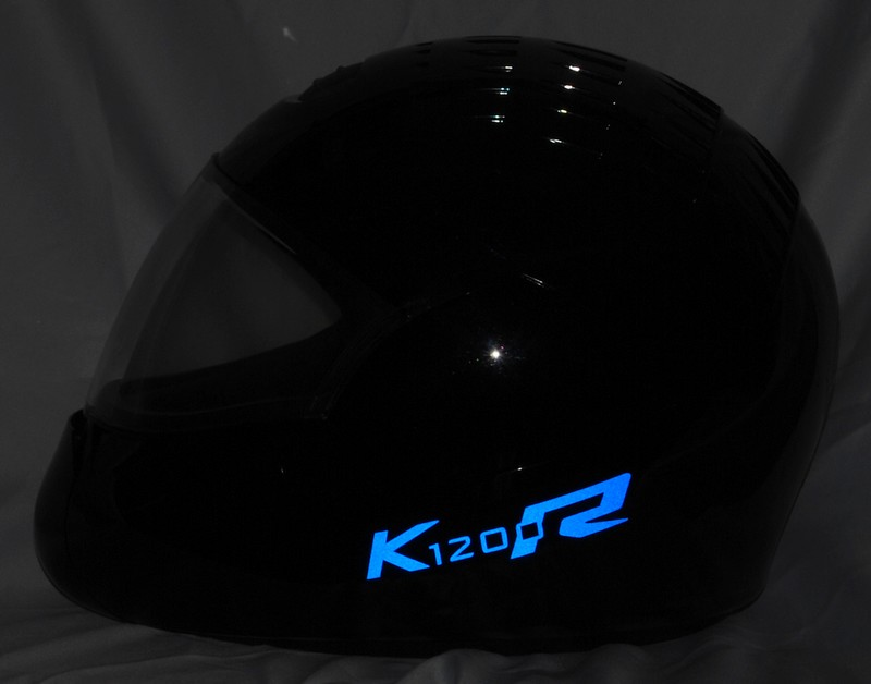 reflective helmet sticker k1200r style typ 3 stickers. Black Bedroom Furniture Sets. Home Design Ideas