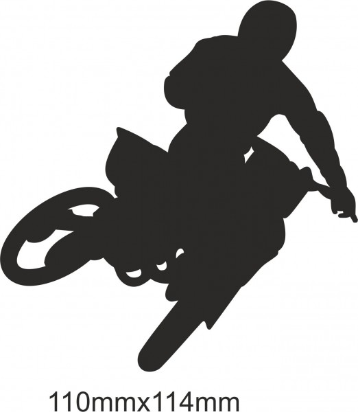 Motobike Moto Cross Freestyle sticker #12 different colours