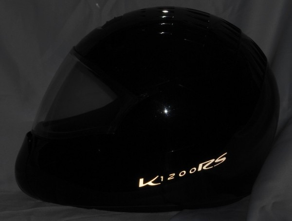 Reflective helmet sticker K1200RS style Typ 3