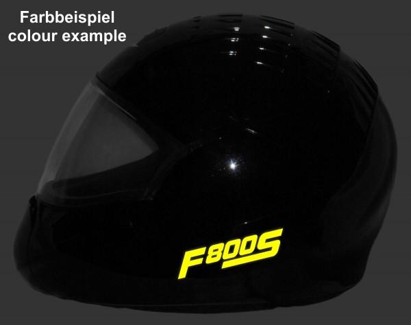 Helmaufkleber reflektierend im Stil F800S Typ 1