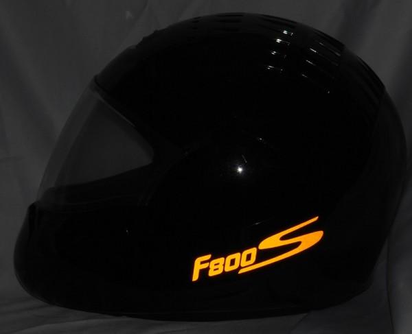 Helmaufkleber reflektierend im Stil F800S Typ 2
