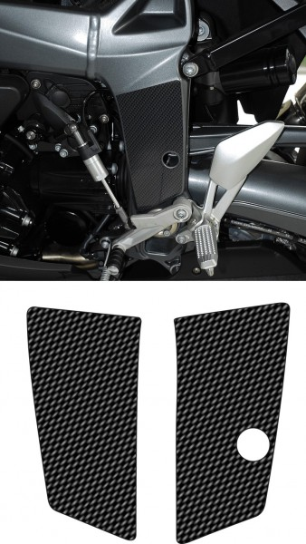 carbon look frame cover for the BMW K1200R and K1300R