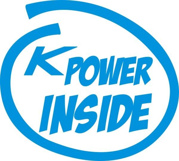 K Power Inside Aufkleber in Wunschfarbe
