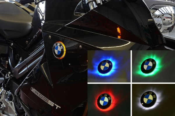 F800S F800ST two colour BMW roundel badge LED lights