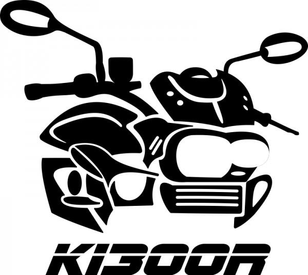 Aufkleber / Helmaufkleber K1300R stilisiert