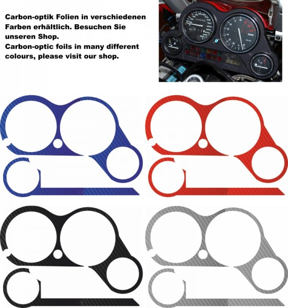 carbon look speedometer cover K1200RS and K1200GT up to mod. 200