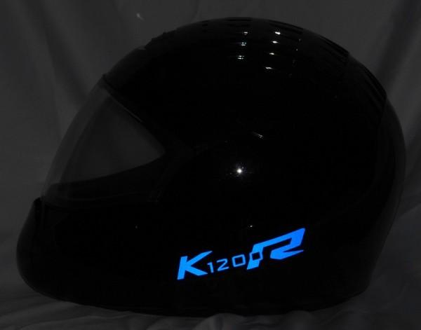 Helmaufkleber reflektierend im Stil K1200R Typ 3