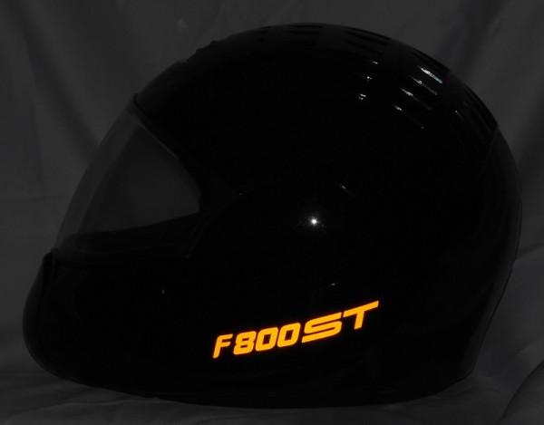 Helmaufkleber reflektierend im Stil F800ST Typ 2