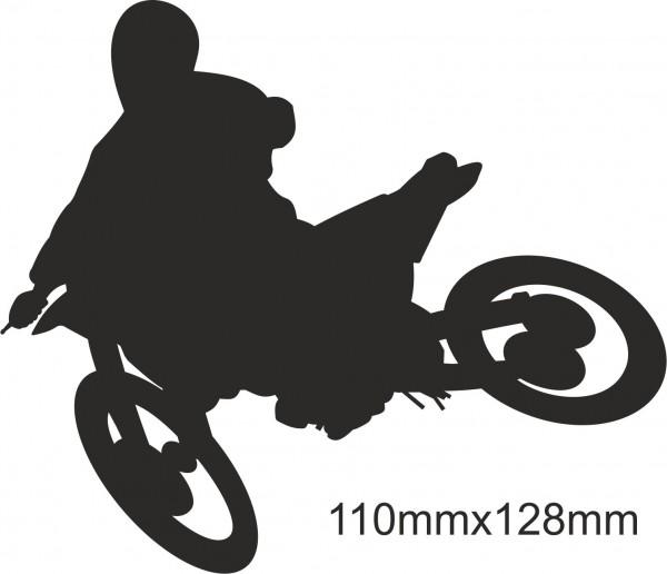 Motorrad Moto Cross Freestyle Aufkleber #21 in Wunschfarbe