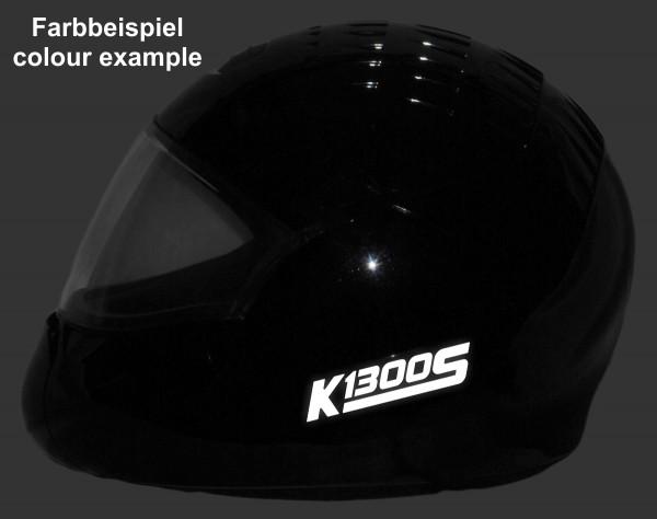 Helmaufkleber reflektierend im Stil K1300S Typ 1