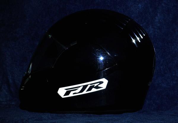 Helmaufkleber reflektierend im Stil Yamaha FJR Typ 1