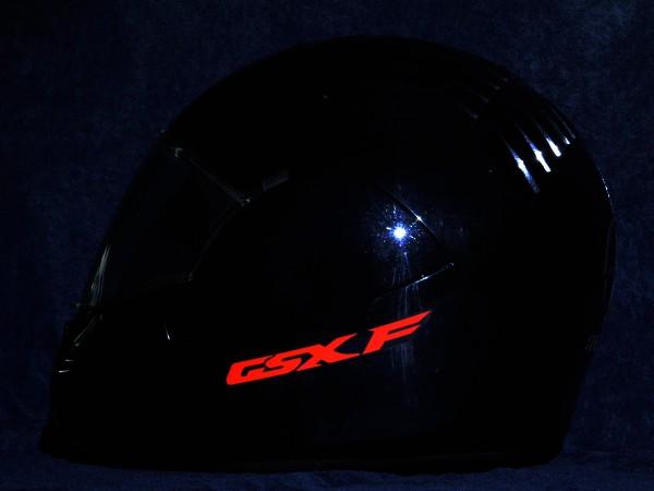 Reflective helmet sticker Suzuki GSX-F style Typ 1