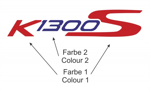 K1300S label set big, two colours