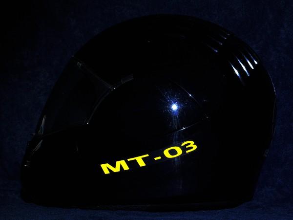 Helmaufkleber reflektierend im Stil Yamaha MT-03 Typ 1