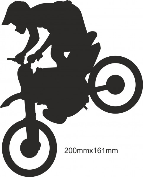 Motobike Moto Cross Freestyle sticker #07 different colours