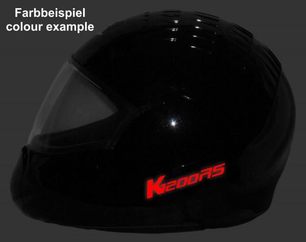 Helmaufkleber reflektierend im Stil K1200RS Typ 2