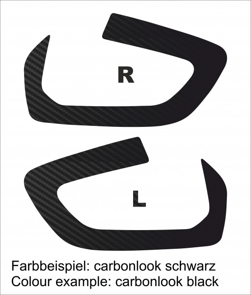 Carbon Optik Folie für die Ventildeckel der BMW R1250GS & R1250GS Adventure