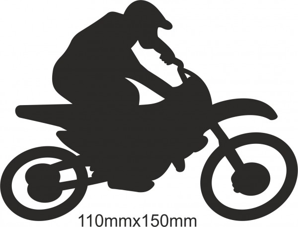 Motobike Moto Cross Freestyle sticker #18 different colours