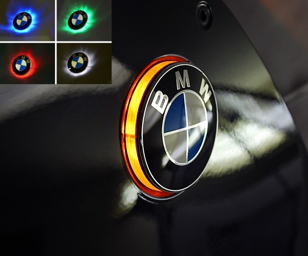K1300S two colour BMW roundel badge LED lights