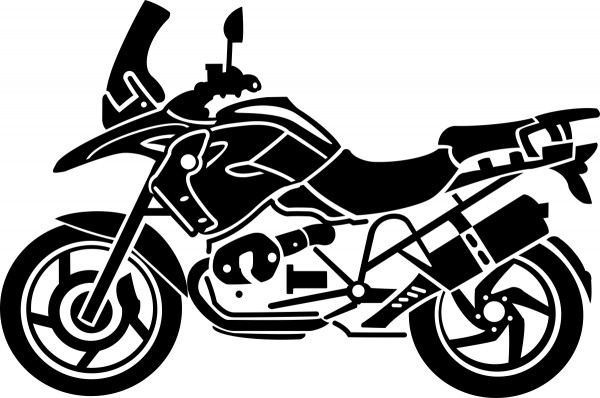 BMW R1200GS TÜ sticker in different colours