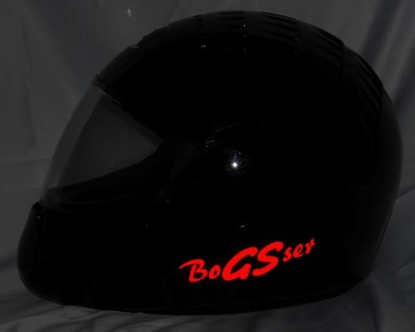"Helmaufkleber ""BoGSer"" reflektierend"
