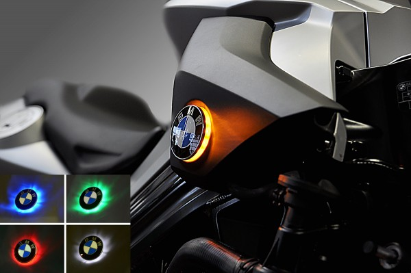 F800R up to mod. 2011 two colour BMW roundel badge LED lights