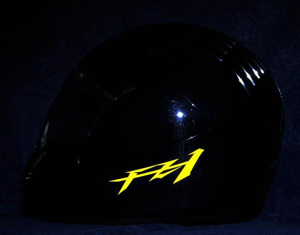 Reflective helmet sticker Yamaha FZ1 style Typ 1