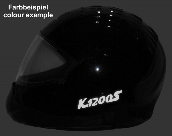 Helmaufkleber reflektierend im Stil K1200S Typ 1