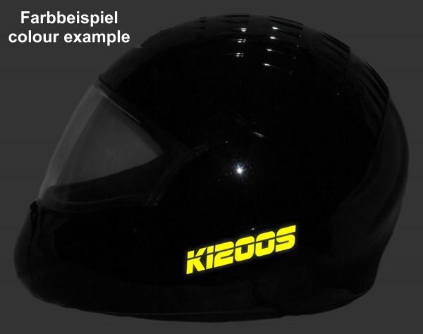 Reflective helmet sticker K1200S style Typ 3