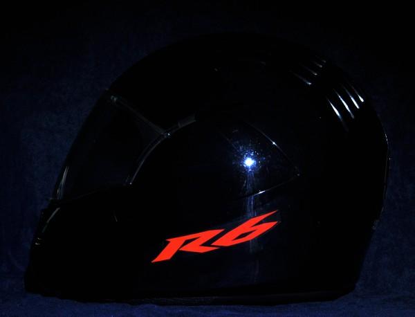 Helmaufkleber reflektierend im Stil Yamaha R6 Typ 1