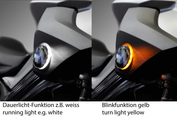 F800R since mod. 2014 two colour BMW roundel badge LED lights