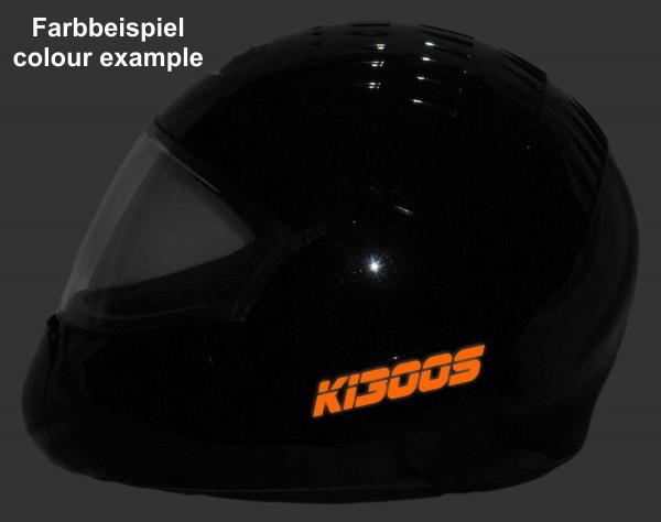 Helmaufkleber reflektierend im Stil K1300S Typ 3