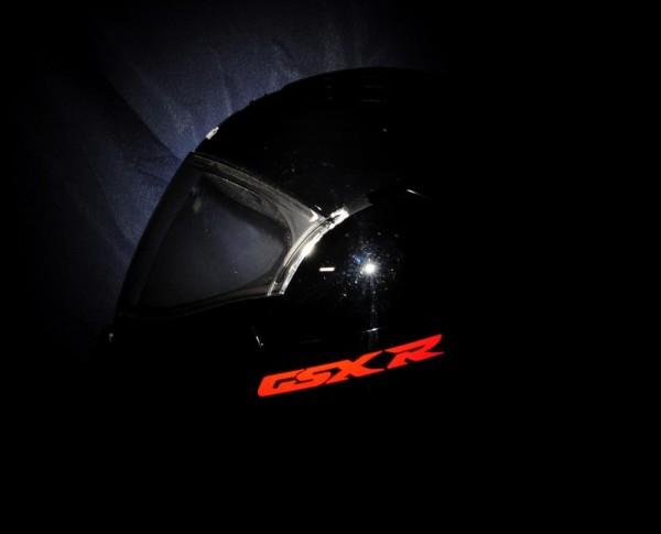 Reflective helmet sticker Suzuki GSX-R style Typ 1