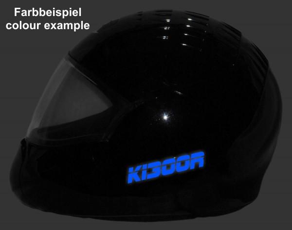 Helmaufkleber reflektierend im Stil K1300R Typ 1